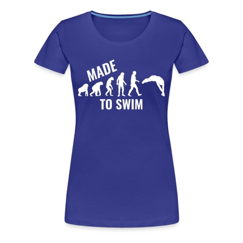 50k Likes Edition: Made To Swim - Premium Women's T-Shirt - Women's Premium T-Shirt