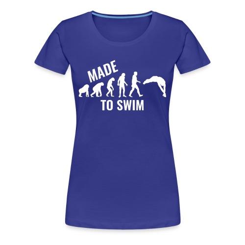 50k Likes Edition: Made To Swim - Premium Women's T-Shirt - Women's Premium T-Shirt