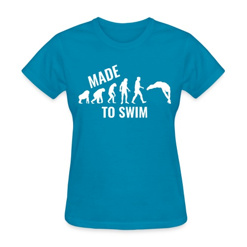 50k Likes Edition: Made To Swim - Women's Gildan T-Shirt - Women's T-Shirt