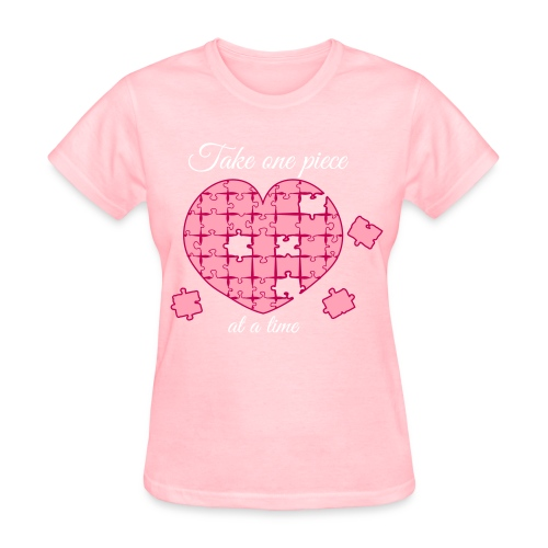 Take one piece at a time Heart - Women's T-Shirt