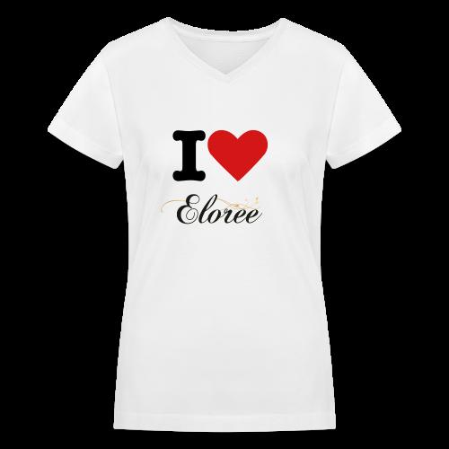 I LOVE ELOREE - Women's V-Neck T-Shirt