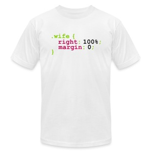 My Wife is Right (expressed in Code) - Men's Fine Jersey T-Shirt