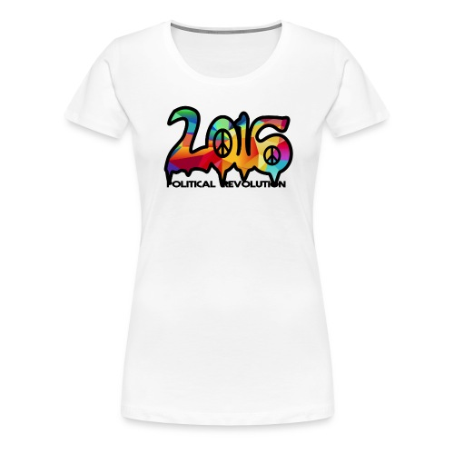 Ladies Political Revolution Peace Abstract Design - Women's Premium T-Shirt