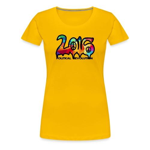Ladies Political Revolution Peace Abstract Design - Women's Premium T-Shirt