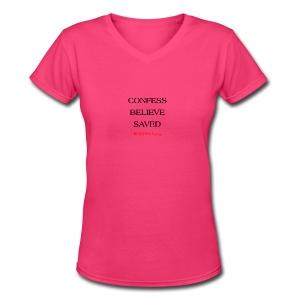 3 Women's T-Shirts - Women's V-Neck T-Shirt