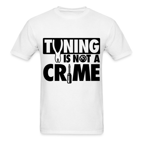 TUNING IS NOT A CRIME  - T-shirt pour hommes