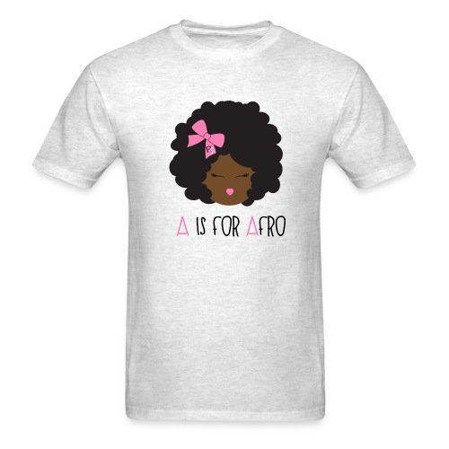 A is for Afro - Girl Adult T-shirt - Men's T-Shirt