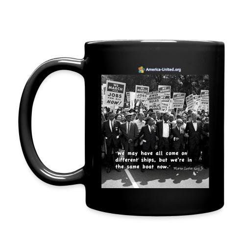 Martin Luther King Same Boat coffee mug - Full Color Mug