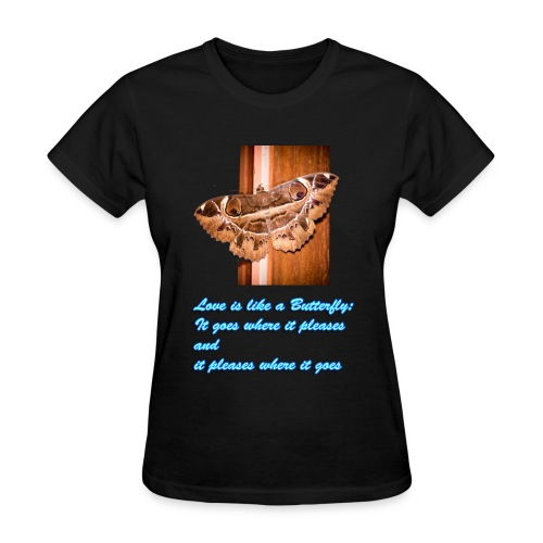 Valentines Day- Women's TShirt - Butterfly V-Neck - Women's T-Shirt