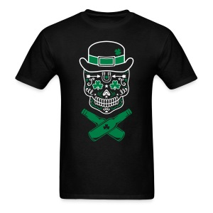 St. Patrick's Day Sugar Skull - Men's T-Shirt