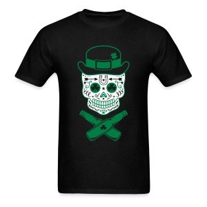 St. Patrick's Sugar Skull - Men's T-Shirt