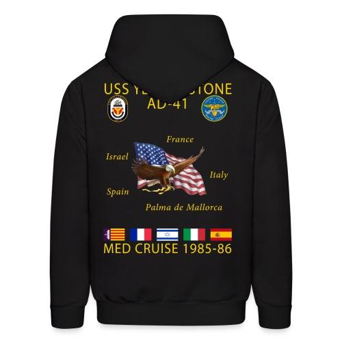USS YELLOWSTONE 1985-86 MED CRUISE HOODIE - Men's Hoodie