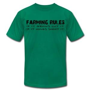 Limited: Farming Rules - Men's Fine Jersey T-Shirt