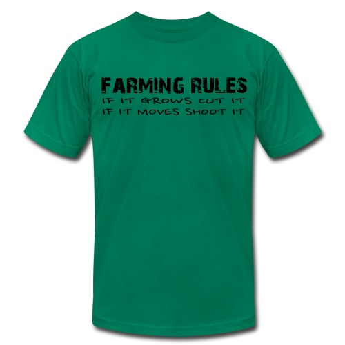 Limited: Farming Rules - Men's T-Shirt by American Apparel