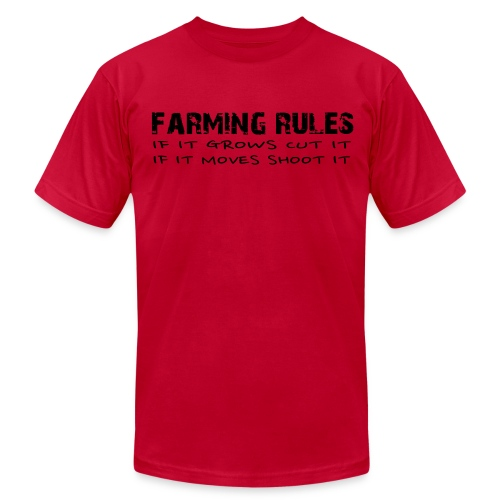 Limited: Farming Rules Red - Men's Fine Jersey T-Shirt