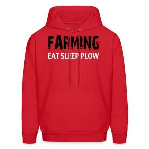 Limited: Farming Eat Sleep: Red - Men's Hoodie