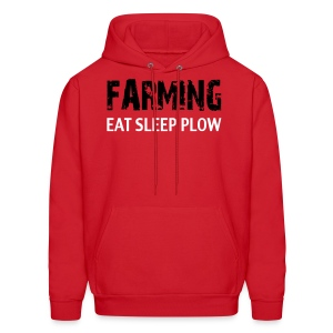 Limited: Farming Eat Sleep: Red - Men's Hoodie