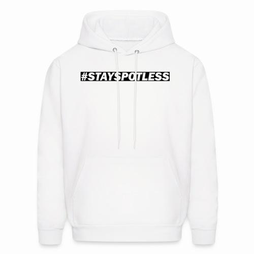 #StaySpotless Black Design Light Hoodie [Men] - Men's Hoodie
