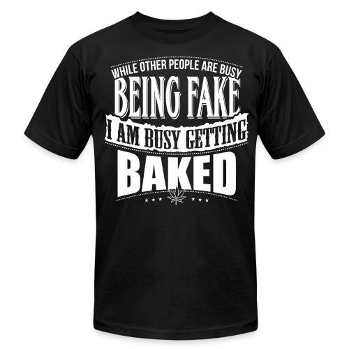 Getting Baked - T-Shirt - Men - Men's Fine Jersey T-Shirt