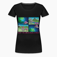 aliens_and_trex_022016_c Women's T-Shirts