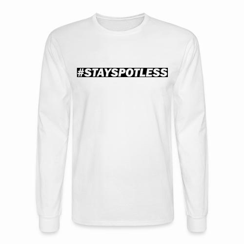 #StaySpotless Black Design LS Shirt [Men] - Men's Long Sleeve T-Shirt