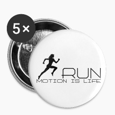 Jogging girl Buttons