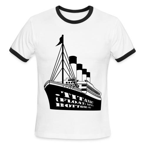 Titanic in CSS - Men's Ringer T-Shirt