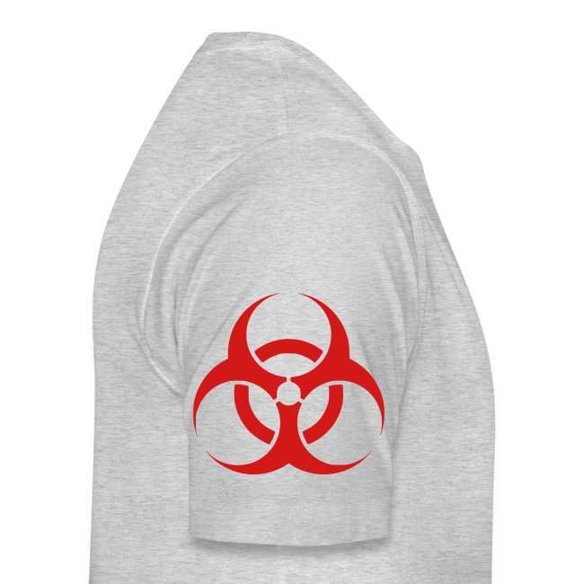 Biohazard (on Right sleeve)   Men's Premium Tee