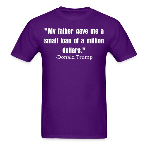 Small loan Trump mens shirt purple - Men's T-Shirt