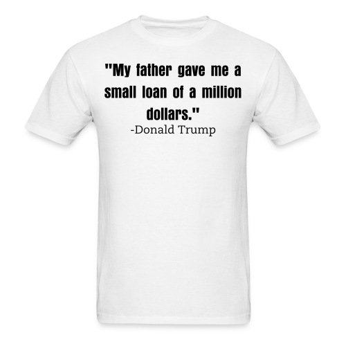 Small loan Trump mens shirt white - Men's T-Shirt