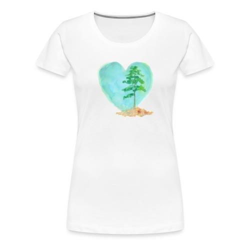 Women's Heart and Tree Tee - Women's Premium T-Shirt