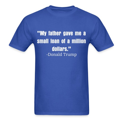 Small loan Trump mens shirt blue - Men's T-Shirt