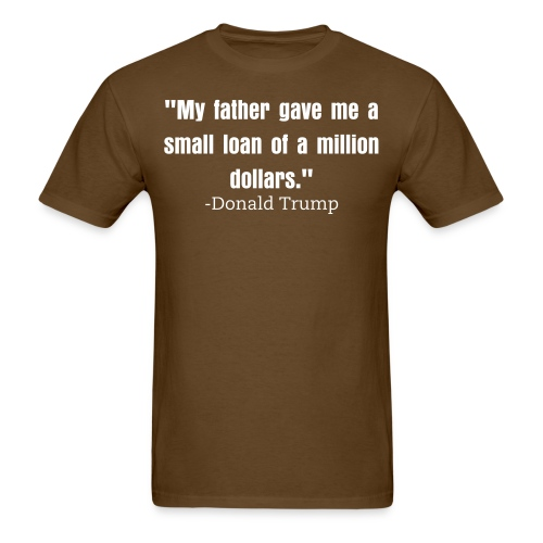 Small loan Trump mens shirt brown - Men's T-Shirt