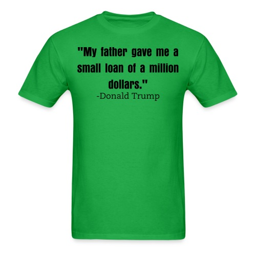 Small loan Trump mens shirt bright green - Men's T-Shirt