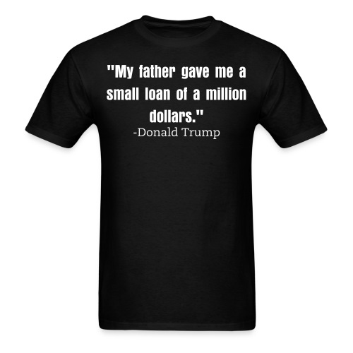 Small loan Trump mens shirt black - Men's T-Shirt
