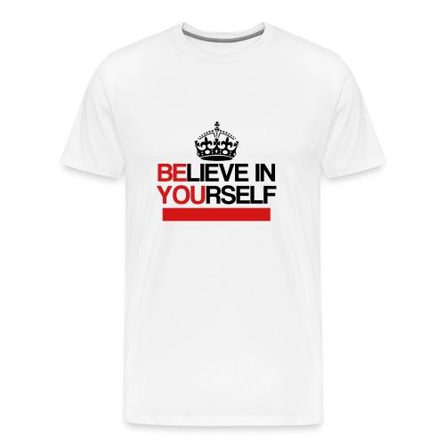 Believe In Yourself (White/Red/Black) - Men's Premium T-Shirt