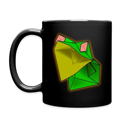 Black Origami Frog Coffe Mug - Full Color Mug