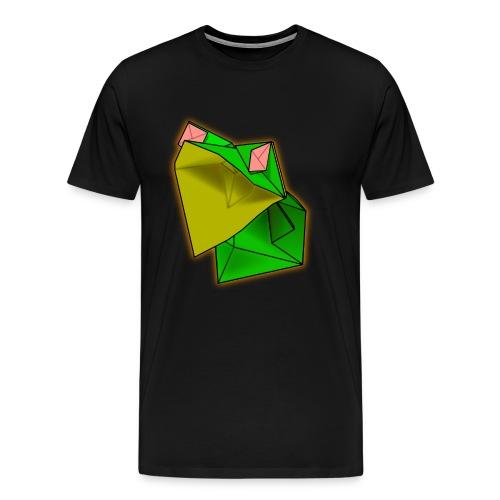 Black Men's Origami Frog TShirt - Men's Premium T-Shirt