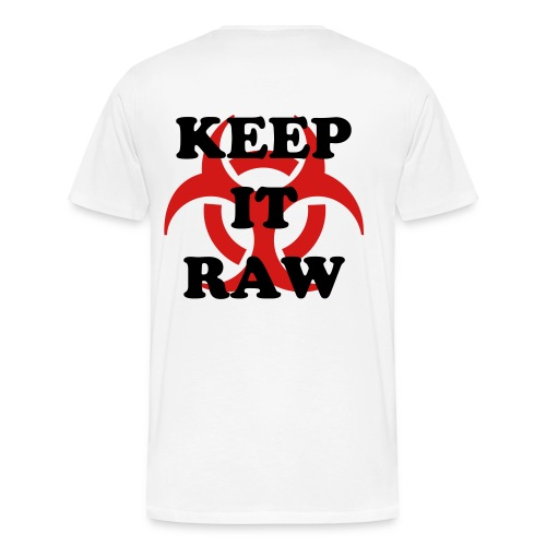 Keep It Raw  Biohazard (On Back)  Men's Premium Tee - Men's Premium T-Shirt