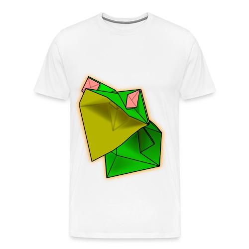 White Men's Origami Frog Tshirt - Men's Premium T-Shirt