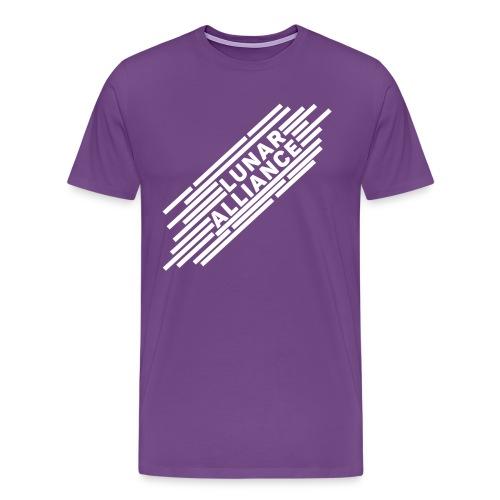 Lunar Lines (White)  - Men's Premium T-Shirt