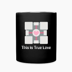 """This Is True Love"" Companion Cube Mug"