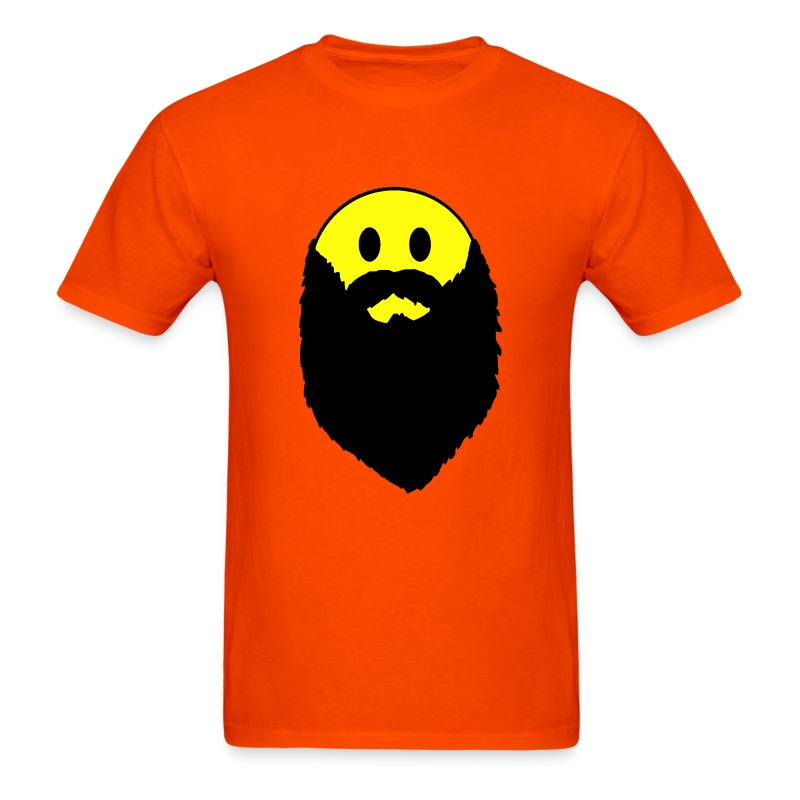 hipster beard yellow smiley face shirt men 39 s t shirt. Black Bedroom Furniture Sets. Home Design Ideas