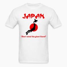 Japan don't mind the giant lizard T-Shirts