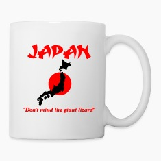 Japan don't mind the giant lizard Mugs & Drinkware