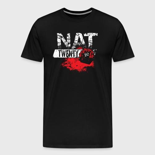 Dungeons & Dragons NAT TWENTY RPG - Men's Premium T-Shirt