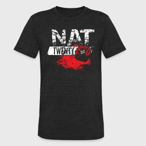 Dungeons & Dragons NAT TWENTY RPG - Unisex Tri-Blend T-Shirt by American Apparel