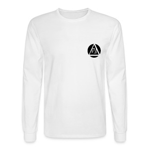 Lucid Apparel Signature Tee Long Sleeve - White - Men's Long Sleeve T-Shirt