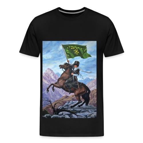 circassian flag - Men's Premium T-Shirt