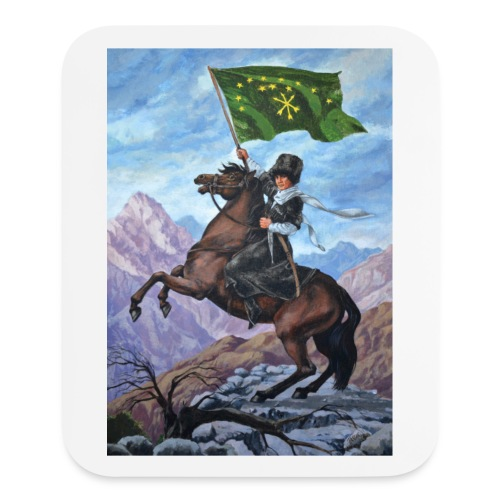 Circassian flag - Mouse pad Vertical